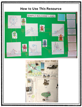 Simple Machines Unit with Nonfiction Reading Articles, Flip Books, STEM Projects