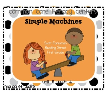 Simple Machines - Unit 5 Week 4 Common Core Literacy Centers