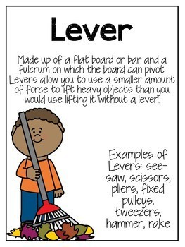Simple Machines Unit STEAM Activities, Experiments, Posters and Quiz