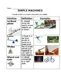 Simple Machines Vocabulary