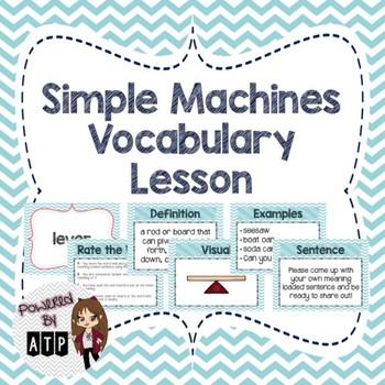 Simple Machines Vocabulary Lesson