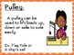 Simple Machines Wall Force and Motion Vocabulary Word Wall Cards