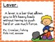 Simple Machines Force and Motion Vocabulary Word Wall Cards