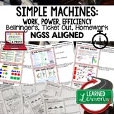 Simple Machines Warm Ups & Bell Ringers, NGSS Print & Digi
