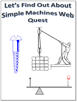 Simple Machines Webquest Scavenger Hunt Science Common Core Activity
