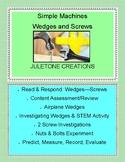 Simple Machines Wedges & Screws