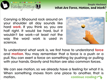 Simple Machines: What Is Force, Motion, and Work? - MAC Gr. 5-8