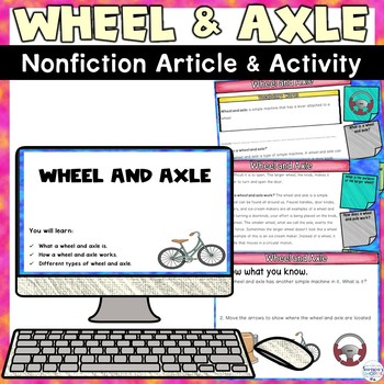 Simple Machines Wheel and Axle for Google Classroom Nonfiction Activity