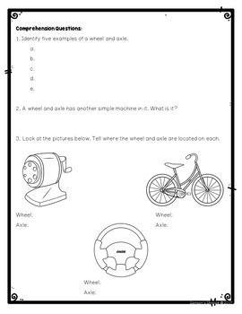Simple Machines Wheel and Axle for Google Classroom Digital Notebook Activity
