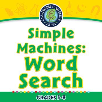 Simple Machines: Word Search - MAC Gr. 5-8