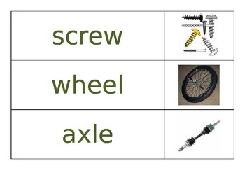 Simple Machines Word Wall