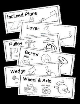 Simple Machines: Science Vocabulary Word Wall