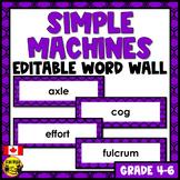 Simple Machines Editable Word Wall Words