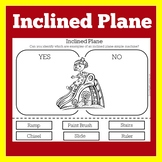 Simple Machines Worksheet | Simple Machine Activity | Inclined Plane