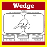 Simple Machines Worksheet | Simple Machine Activity | Wedge Simple Machine