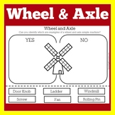 Simple Machines Worksheet | Simple Machine Activity | Wheel and Axle Worksheet