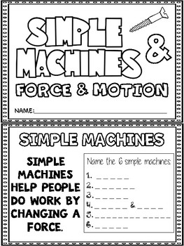 Simple Machines and Force & Motion MiniBook
