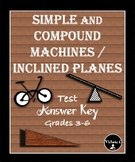 Simple Machines and Inclined Planes Test / Study Guide