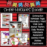 Simple Machines BUNDLE - lever, pulley, wedge, inclined plane, screw, wheel/axle
