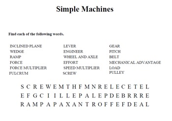 Simple Machines wordsearch