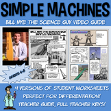 Bill Nye Simple Machines worksheet science activity Jr High middle school 5 6th