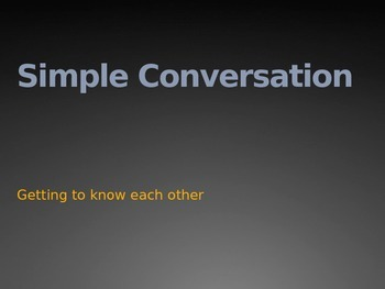 Simple Mandarin Conversation Powerpoint