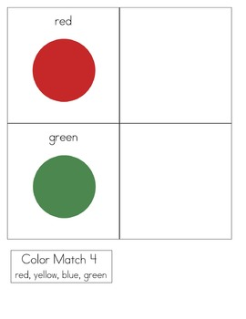 Simple Matching File Folder Games for Special Needs