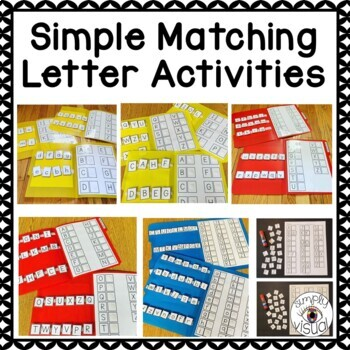 Simple Matching Letters File Folder Activities and Worksheets