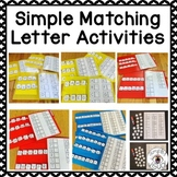 Matching Letters File Folder Activities and Worksheets