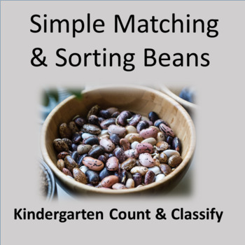 Simple Matching and Sorting Beans - Kindergarten Core  Math Skills