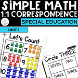 Simple Math: 1:1 Correspondence Unit for Students with Spe