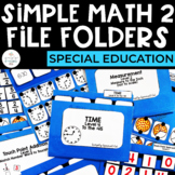 Simple Math 2 File Folders for Special Education