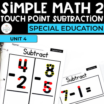 simple math 2 touch point subtraction for special education tpt. Black Bedroom Furniture Sets. Home Design Ideas