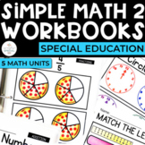 Simple Math 2 Workbooks for Special Education