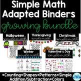 Simple Math Adapted Binders Growing Bundle