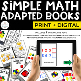 Simple Math Adapted Books for Special Education   Print + Digital