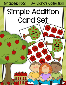 Simple Addition Card Set (Apple Themed)