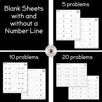 Simple Math File Folder Activities with Blank Printables