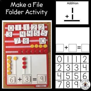 Simple Math File Folder Activities with Blank Printables Bundle