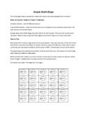 Simple Math Bingo