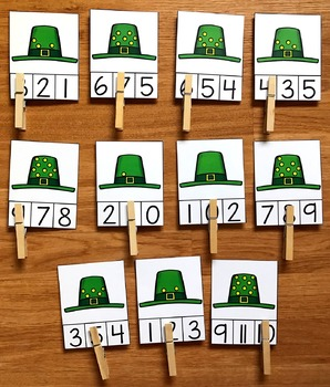Simple Math Centers for St. Patrick's Day