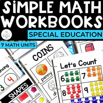 Simple Math Workbooks for Students with Special Needs