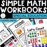 Simple Math Workbooks Bundle for Special Education (7 Units)   Set 1