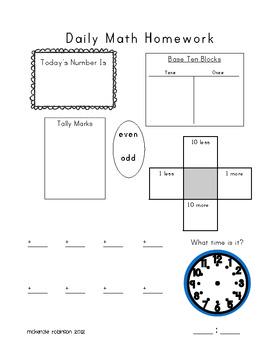 Simple Math Homework Version 1