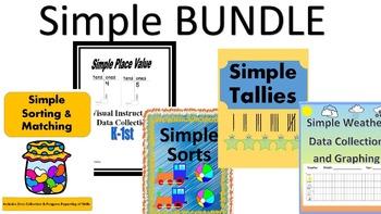 Simple Math--Kindergarten--Visually--Data Collection-Progress Reports BUNDLE