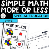 Simple Math: More or Less Unit for Students with Special Needs