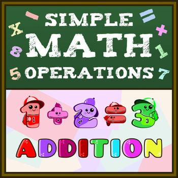 Montessori Simple Math Operations (Addition) Worksheets