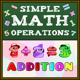 Simple Math Operations (Addition) Worksheets