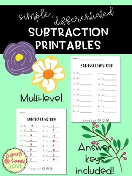 Simple Math Printables BUNDLE!