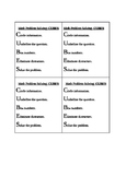 Simple Math Problem Solving Steps for Student Desks